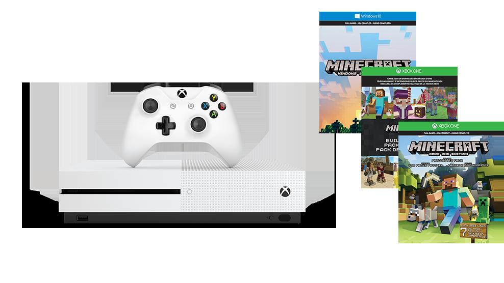 Microsoft Xbox ONE S 500GB Minecraft System Bundle