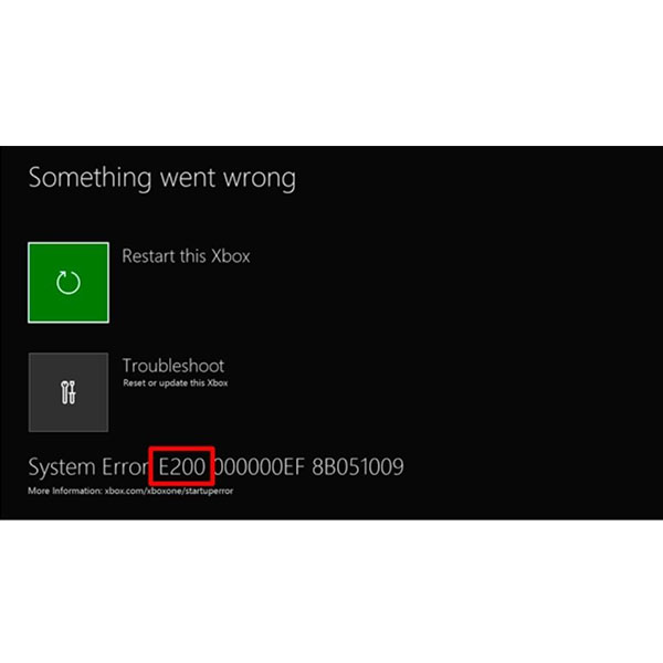 Xbox ONE System Error Screen